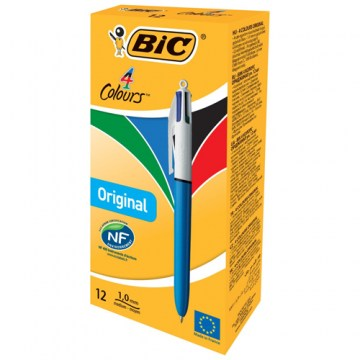 PENNA SFERA A SCATTO BIC 4 COLOURS