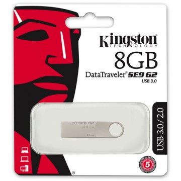 PEN DRIVE KINGSTON DATA TRAVELER SE9 G2 USB 3.0 - 08GB